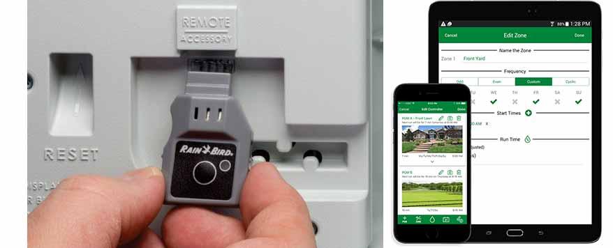 Rain Bird LNK WiFi Modul in der direkten Anwendung