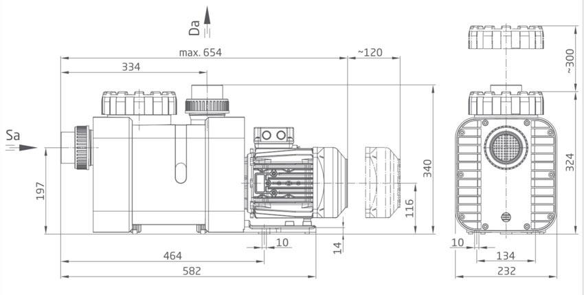 BADU Delta Masszeichnung (1 Maß für alle Modelle)