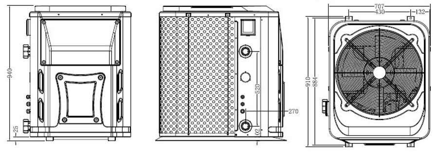 Hydro-Pro Wärmepumpe im Detail