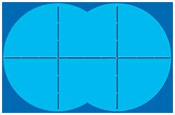 Anordnung der Eisdruckpolster bei einem Achtformpool