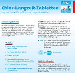 Informationsblatt Chlor-Langzeit-Tabletten
