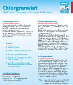 Informationsblatt Chlorgranulat