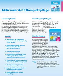 Informationsblatt Aktivsauerstoff Komplettpflege