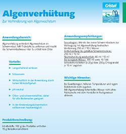 Informationsblatt Algenverhütung