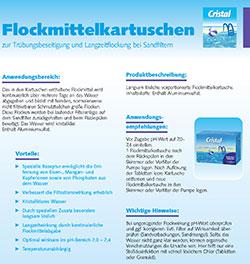 Informationsblatt Flockmittelkartuschen