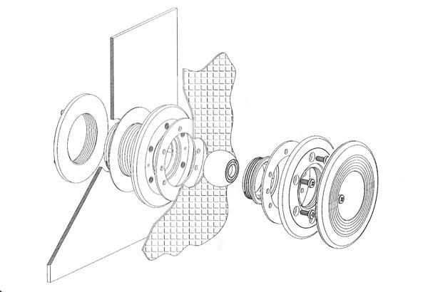 Einzelkomponenten der Einlaufduese