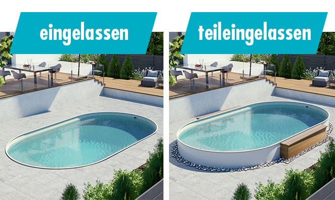 Pool-Aufbauarten