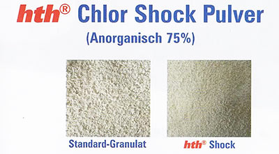 Vergleich Standard Chlor Granulat und hth Shocki
