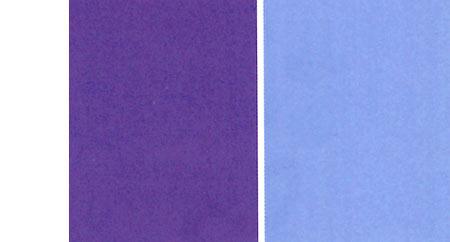 Saness Teststreifen Blau und Violett