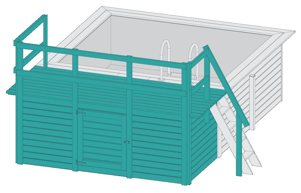 Grafik Pool mit Terrasse