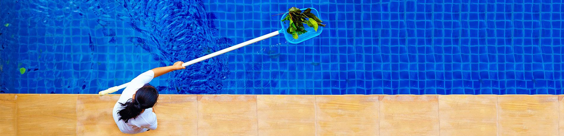 Pool-Kescher Banner