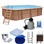 Holz-Pool-Sets