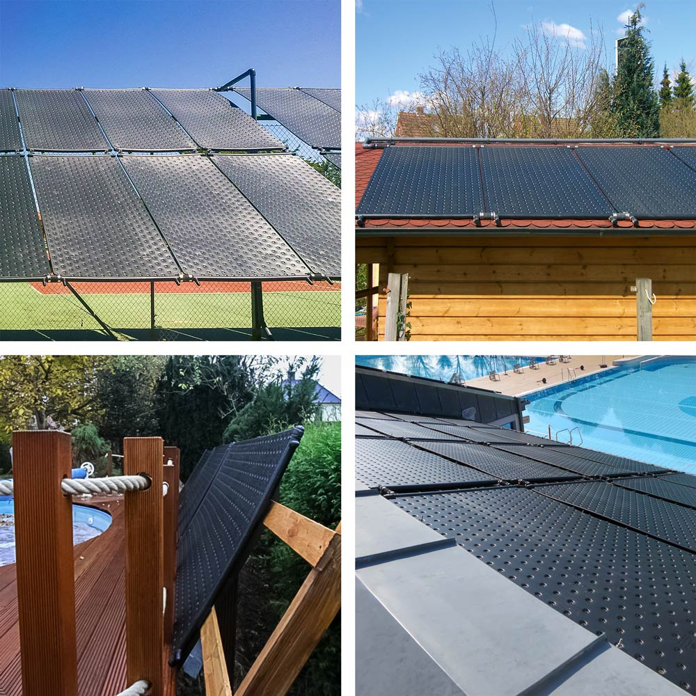 Solarheizung auf dem Dach
