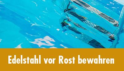 Rostende Edelstahl-Pools