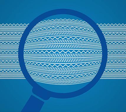 Materialstruktur des Hightech-Filtermaterials