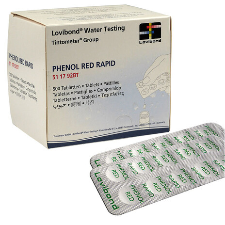 Lovibond PHENOL RED Rapid Tabletten