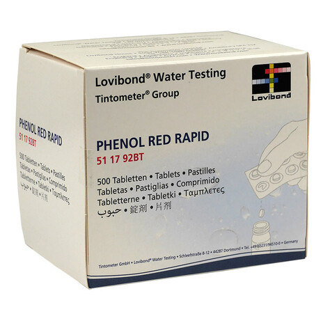 Phenol Red Rapid Tabletten Lovibond 500 Tabletten (50 Streifen)
