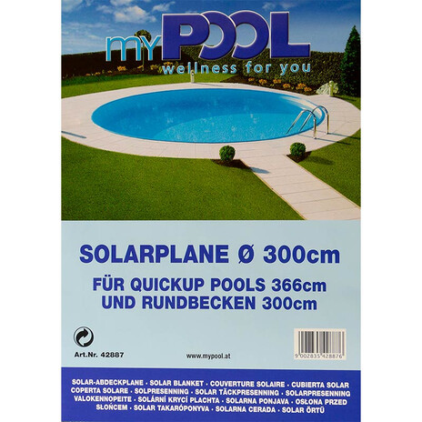 Solarplane für Rundbecken Ø 3,00 m | Quick Up Pool 3,66 m - 180µm
