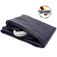 Premium Rundbecken Poolabdeckung Made in Germany 200g/m² blau/schwarz