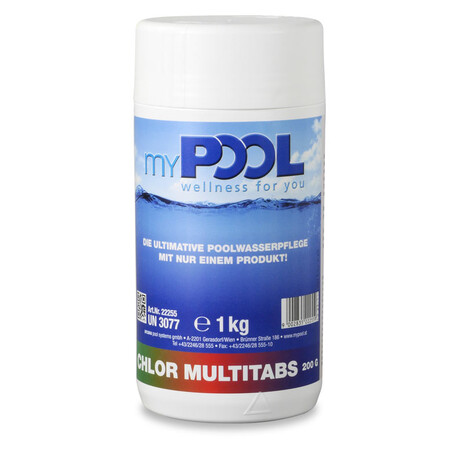myPOOL Chlor MultiTabs 200gr. 1,0 kg