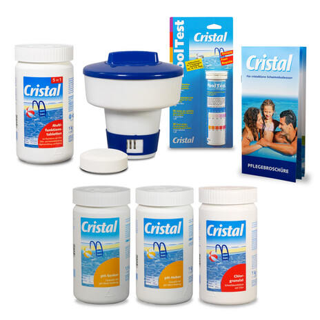 CRISTAL Poolpflege-SET Chlor 4,8 kg für Pools ab 15m³