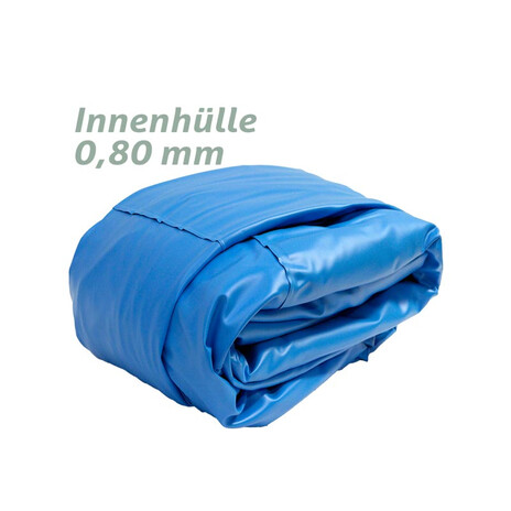 Ovalbecken 4,00 x 10,00 x 1,50 m blau, Folie 0,8 mm Funktions-HL